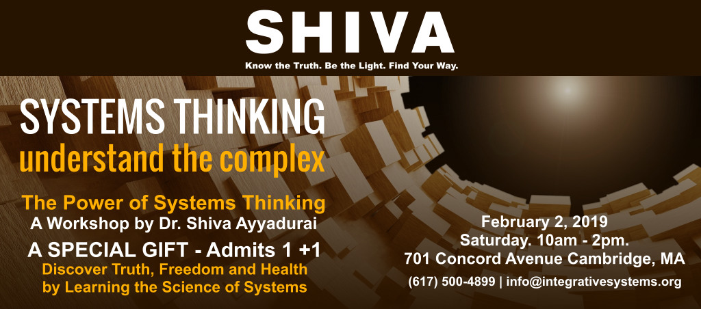 The Power Of Systems Thinking Workshop By Dr. Shiva Ayyadurai – Feb 2, 2019