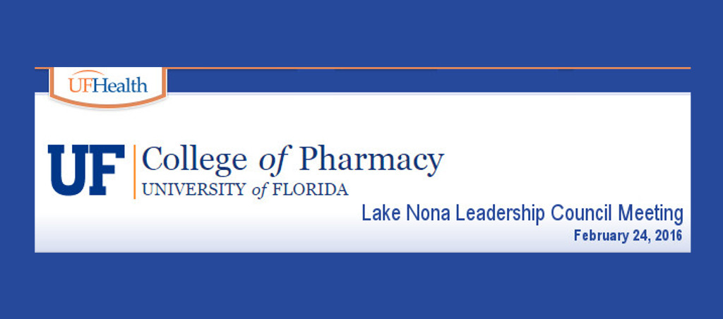 Distinguished Lecture At The College Of Pharmacy, University Of Florida