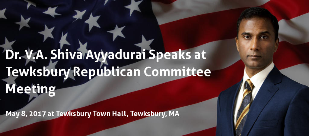 Shiva Ayyadurai Speaks At Tewksbury Republican Town Committee Meeting
