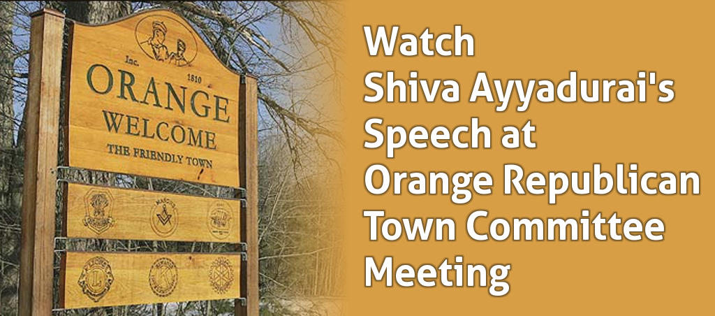 Watch Shiva Ayyadurai's Speech At Orange Republican Town Meeting