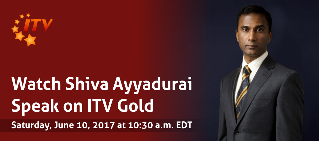 Watch Shiva Ayyadurai Speak On ITV Gold
