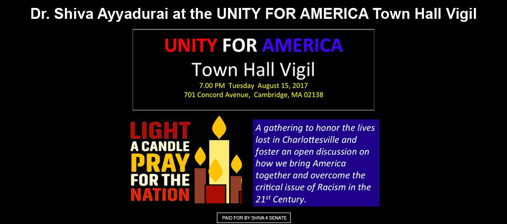 Dr. Shiva Ayyadurai Participates At The Unity For America Town Hall Vigil
