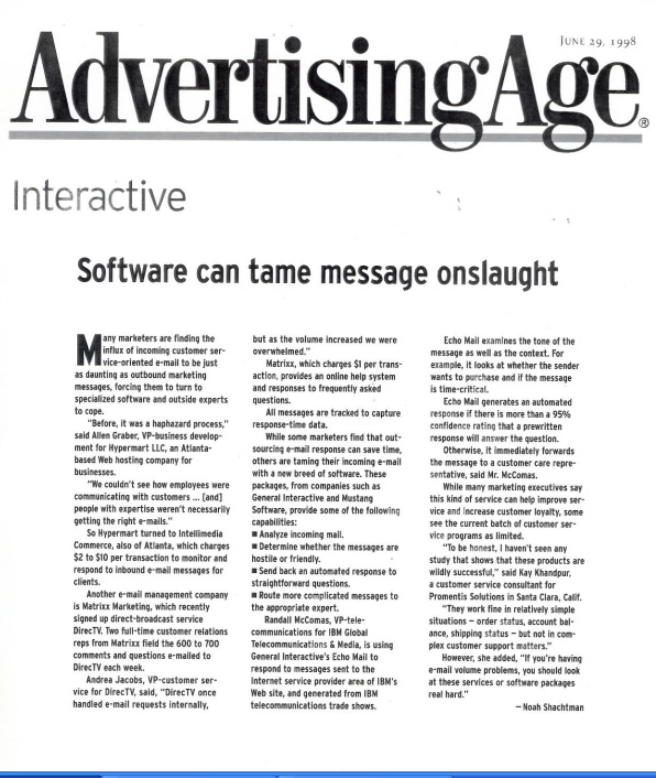 Software Can Tame Message Onslaught