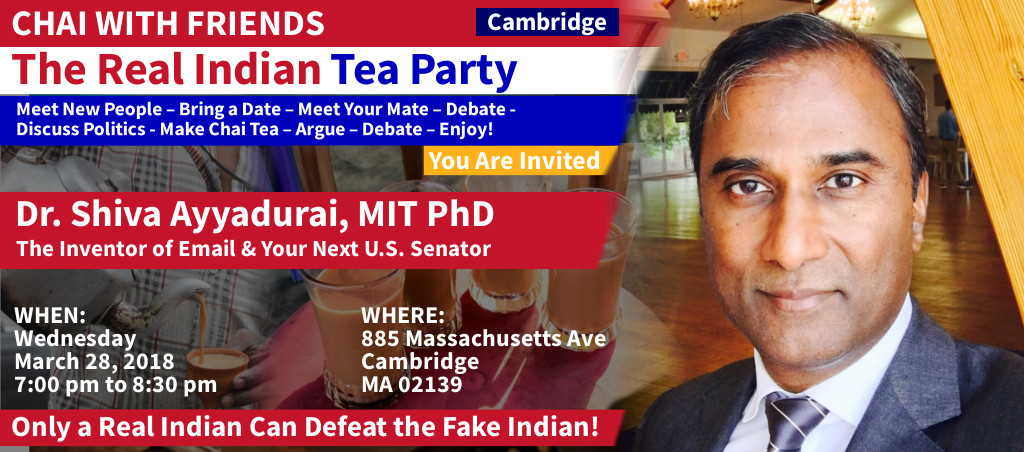 Chai With Friends At Cambridge, MA On Wednesday, March 28, 2018