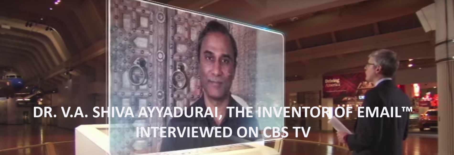 V.A. Shiva Ayyadurai, The Inventor Of Email, Interviewed On CBS TV