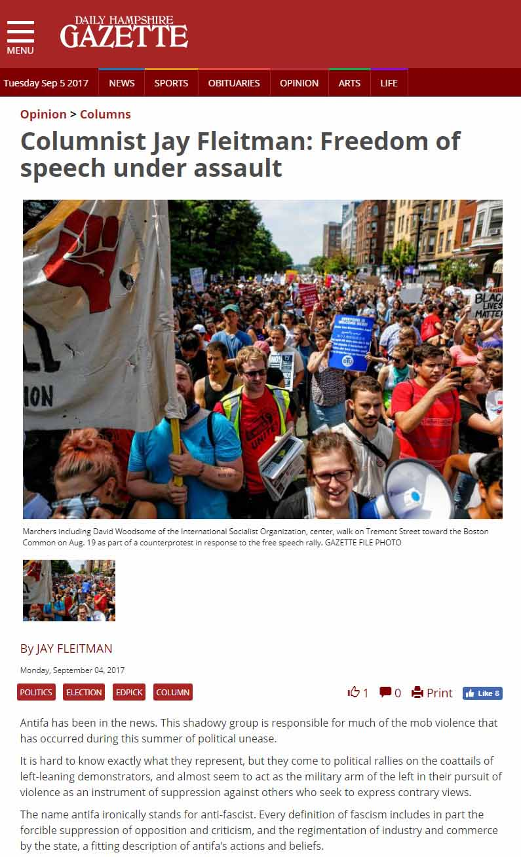 Columnist Jay Fleitman: Freedom Of Speech Under Assault