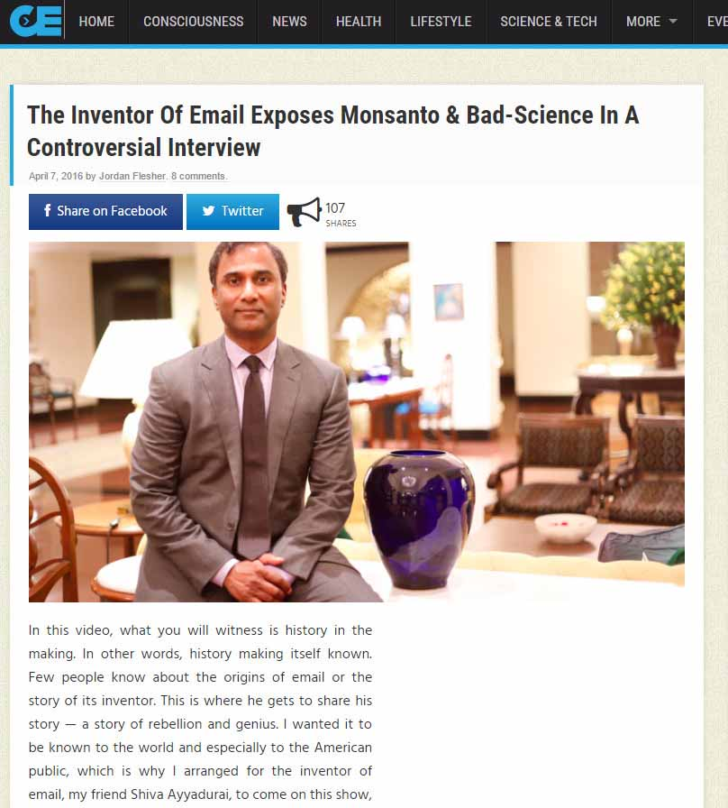 The Inventor Of Email Exposes Monsanto & Bad-Science In A Controversial Interview