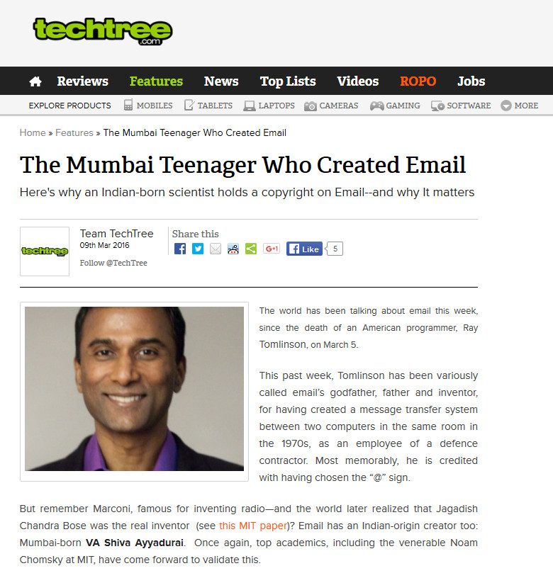 The Mumbai Teenager Who Created Email