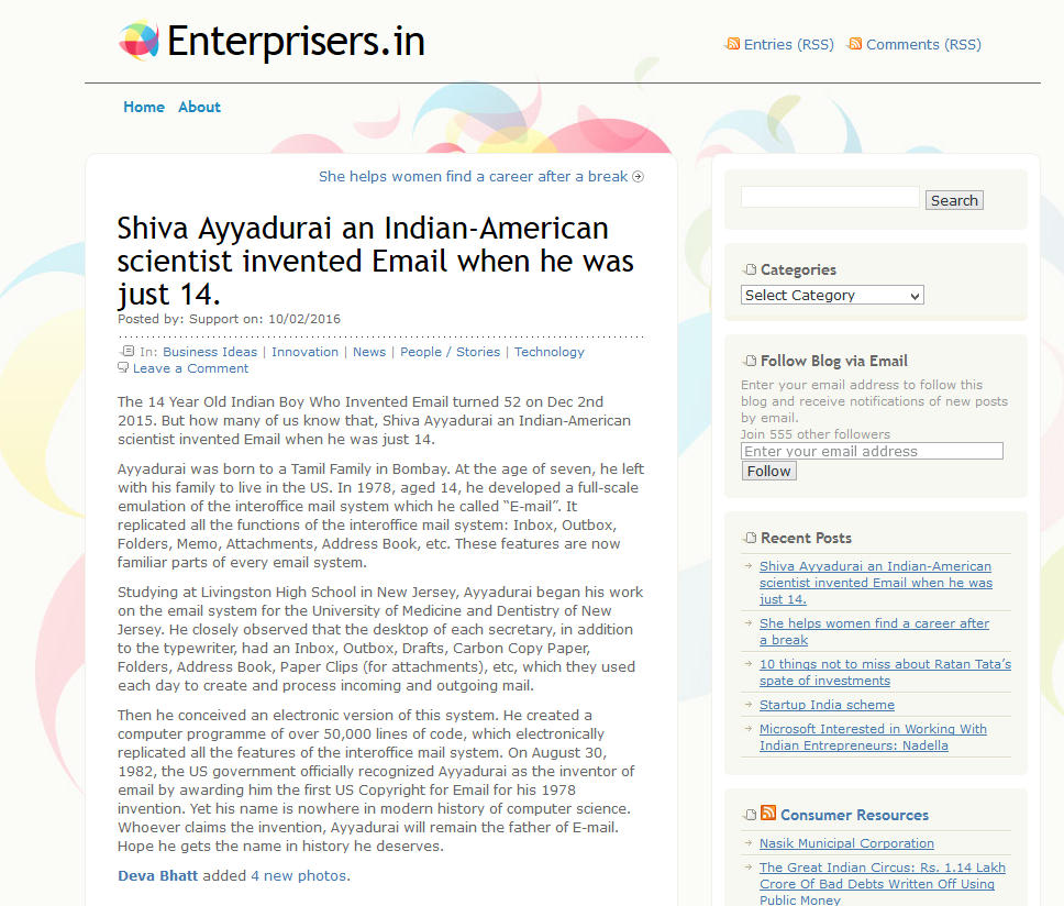 Shiva Ayyadurai, An Indian-American Scientist Invented Email When He Was Just 14