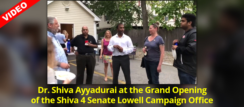 Dr. Shiva Ayyadurai At The Grand Opening Of The Shiva 4 Senate Lowell Campaign Office