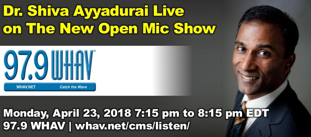 Dr. Shiva Ayyadurai Live On The New Open Mic Show