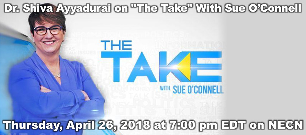 "Dr. Shiva Ayyadurai Live On ""The Take"" With Sue O'Connell On NECN"