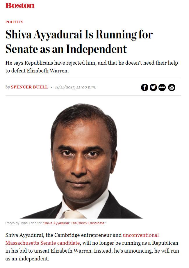 Shiva Ayyadurai Is Running For Senate As An Independent