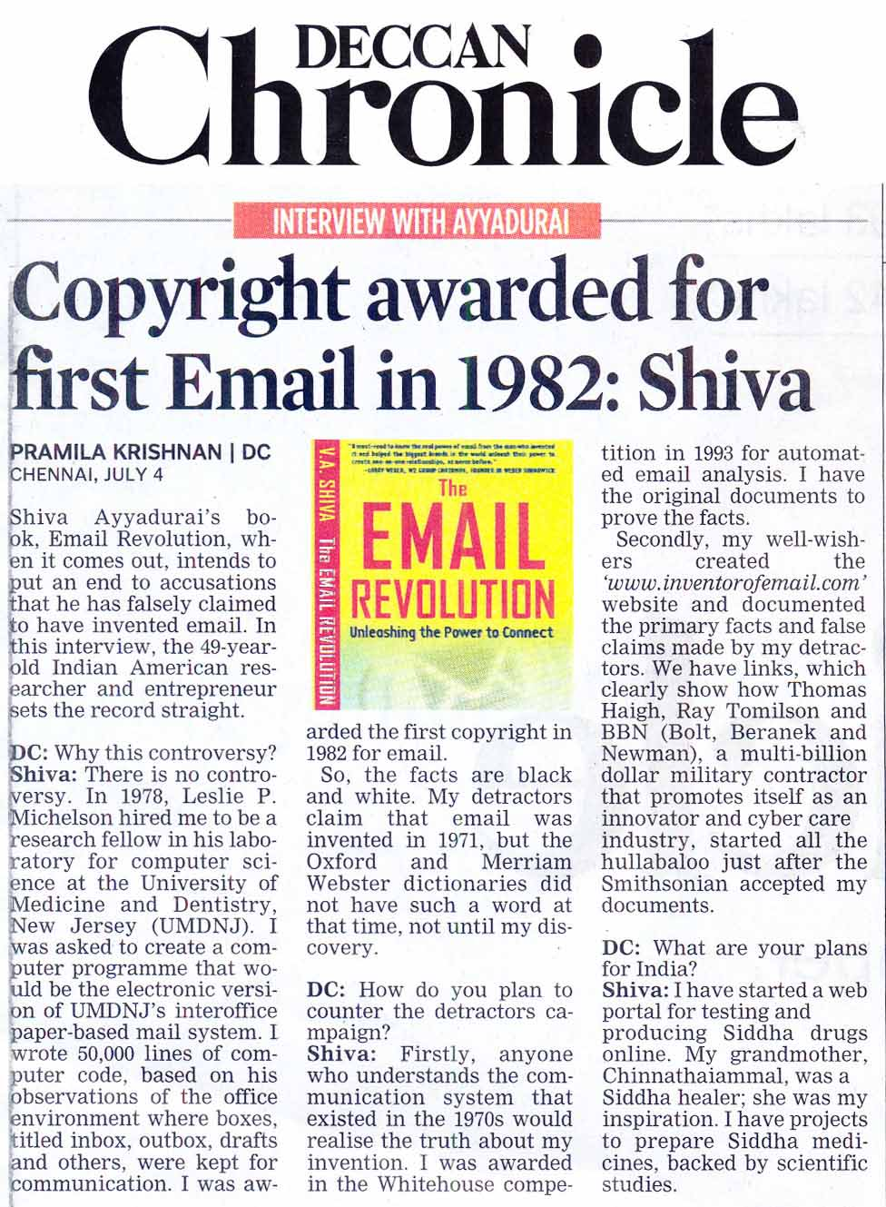 Copyright Awarded For First Email In 1982
