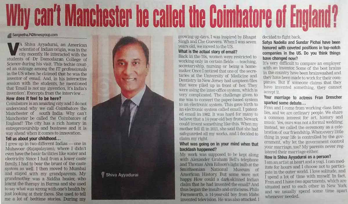 Why Can't Manchester Be Called The Coimbatore Of England?