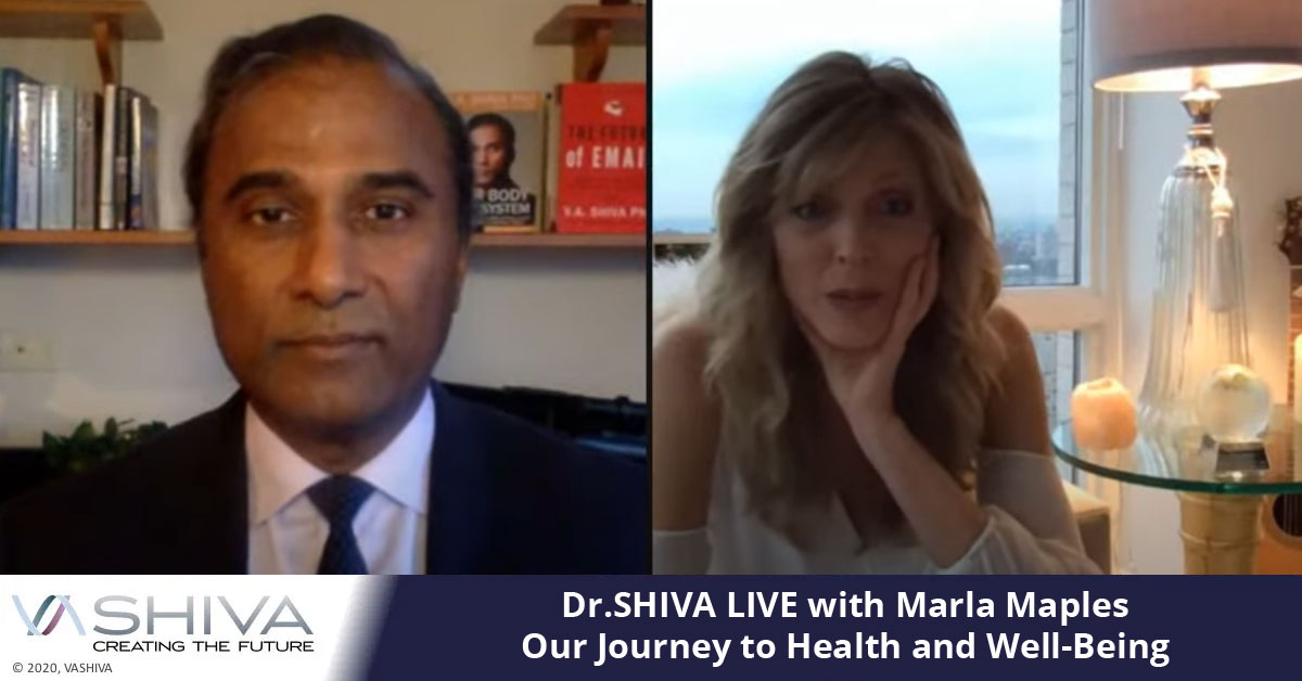 Dr.SHIVA LIVE With Marla Maples. Our Journey To Health And Well-Being.