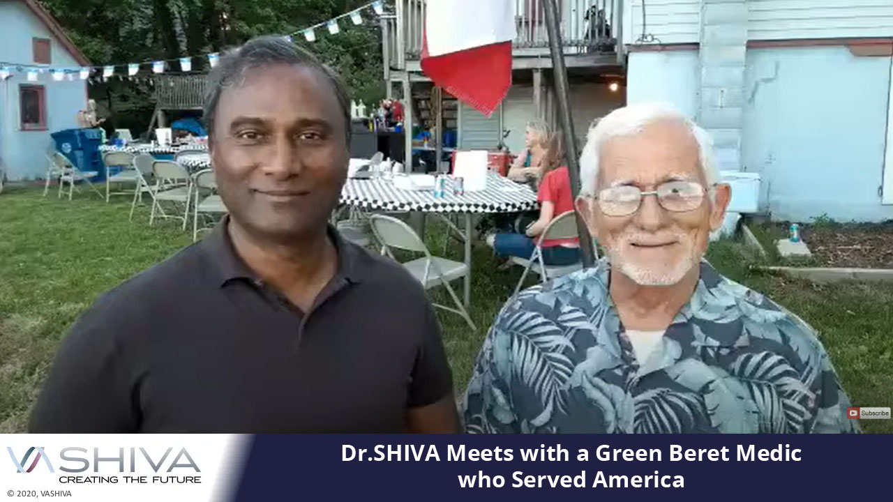 Dr.SHIVA Meets With A Green Beret Medic Who Served America For 25 Years