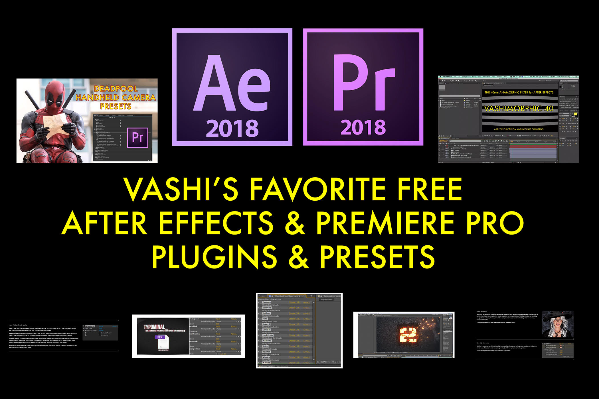 18 Free Effects for After Effects & Premiere Pro | VashiVisuals