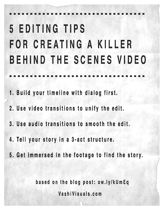 5 edit tips