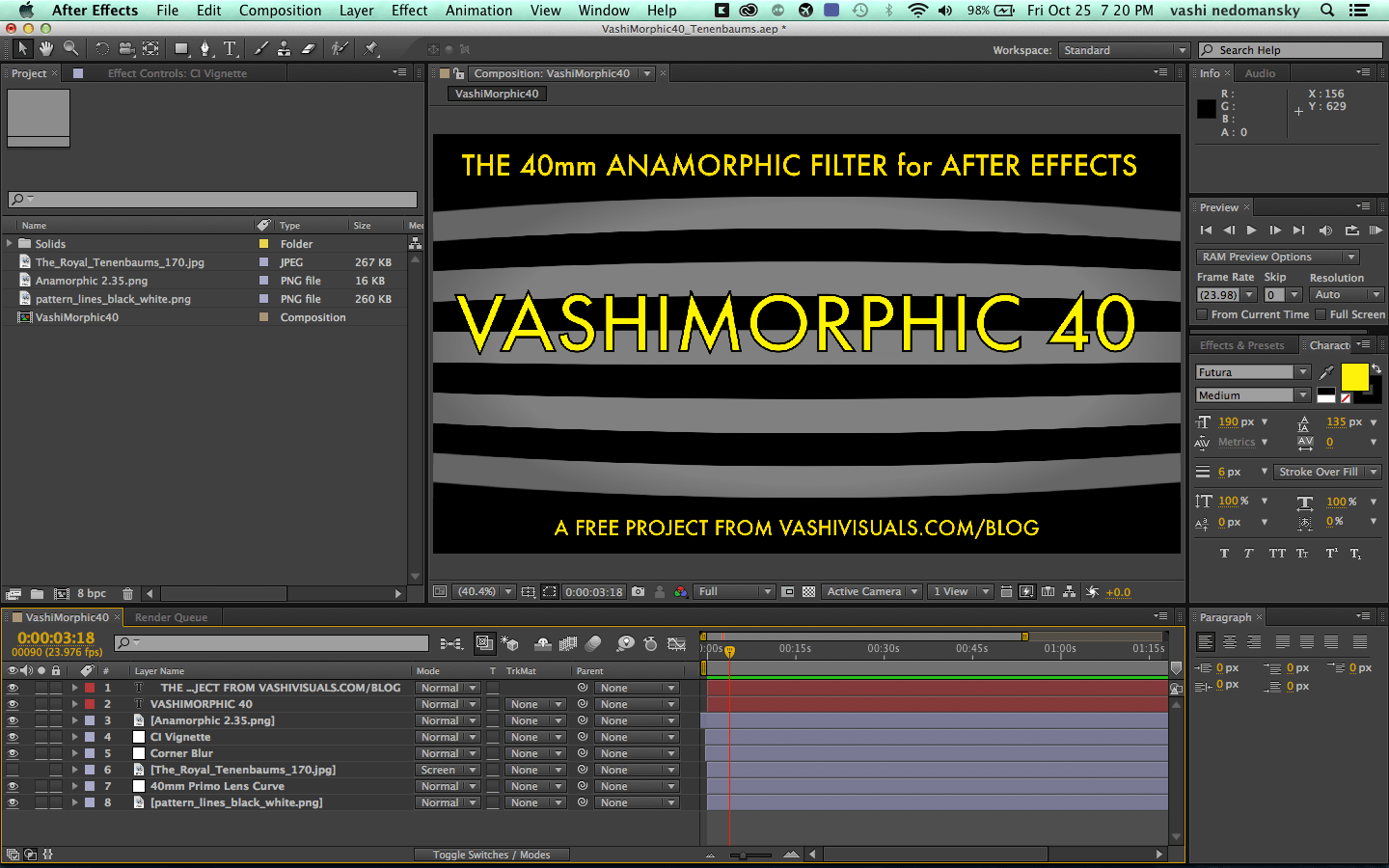 Free Anamorphic After Effects Plugin Vashivisuals
