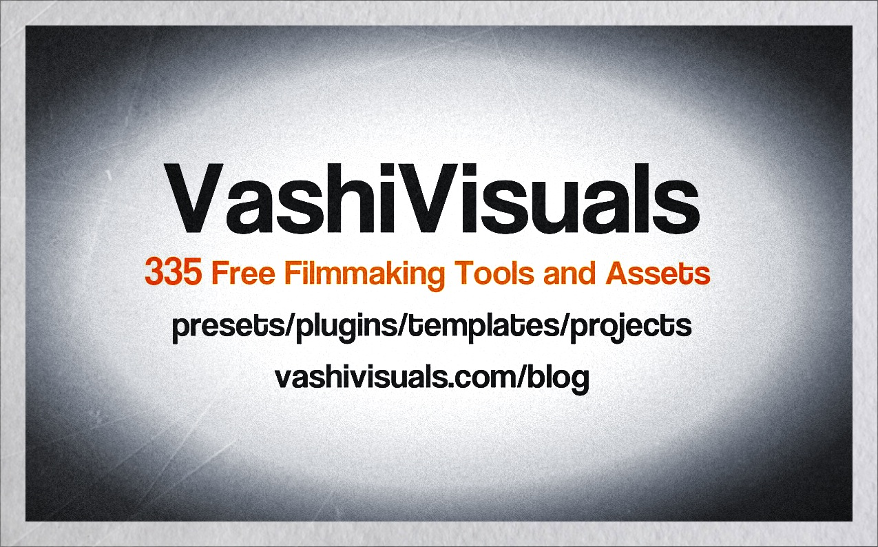 335 free filmmaking tools vashivisuals blog 335 free film editing tools and assets spiritdancerdesigns Choice Image