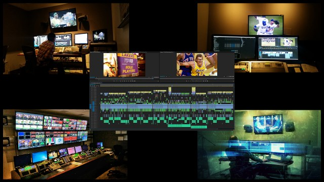 Some of the 25 edit bays and the Master Control Room at TWCS
