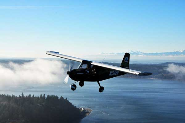 The Vashon Ranger R7's strut-less, cantilevered high wing design and expansive windscreen offer stunning views.