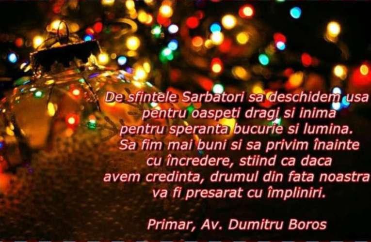 Urările de Crăciun ale d-lui av Dumitru Boroș, Primarul Municipiului Bârlad