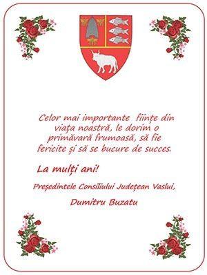 Mesajul de 8 Martie al Președintelui Consiliului Județean Vaslui, dl. Dumitru Buzatu