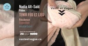 Vaste et Vague   LA CONCORDANCE DES TEMPS   HIVER   Nadia AÏT-SAÏD