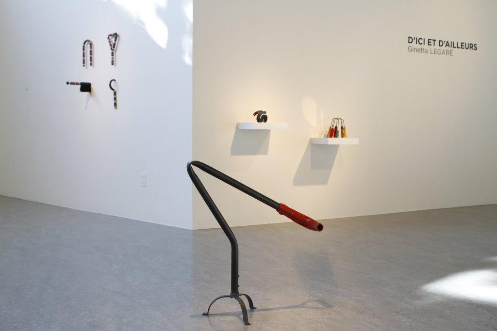 Ginette LEGARÉ | D'ICI ET D'AILLEURS | Montage de l'exposition