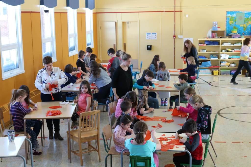 Thomas LANFRANCHI | CIEL DE NEIGE | Atelier : École primaire Notre-Dame-de-Liesse, Saint-George-de-Malbaie, 1er mars 2019
