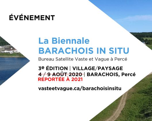 La Biennale Barachois In Situ   REPORTÉE À 2021