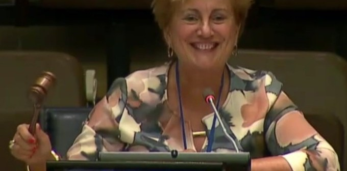 Dorine Burmanje, voorzitter Raad van Bestuur Kadaster, benoemd tot co-chair GGIM