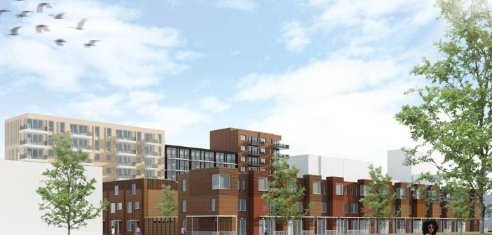 188 Huurwoningen De Entree in Haarlem in aanbouw