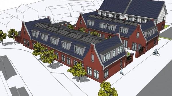 Nieuwe hofjeswoningen in oude kern Noordwijk Binnen