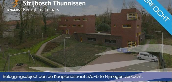 Beleggingsobject aan de Kaaplandstraat 57a-b te Nijmegen verkocht
