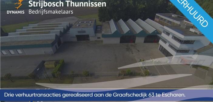 Drietal verhuurtransacties gerealiseerd aan de Graafschedijk te Escharen
