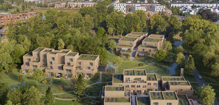 Nieuwbouwwijk Zuiver prototype voor houtbouw in Nederland