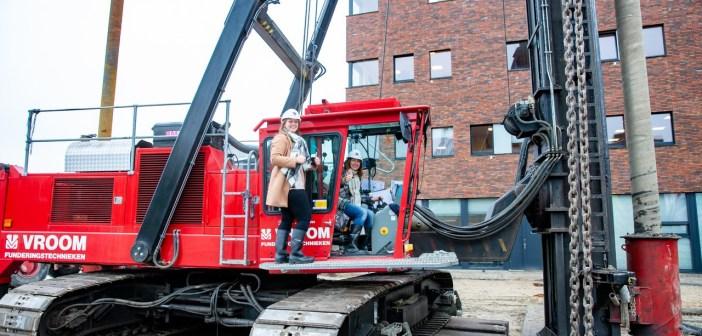 1e paal uitbreiding Hogeschool Leiden
