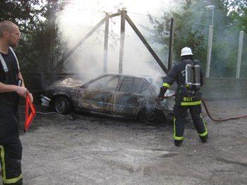 bild på bilbrand på henriksdalsberget under tidigare år