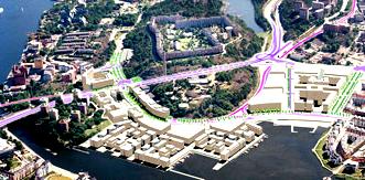 Karta över Henriksdal efter Danvikslösen