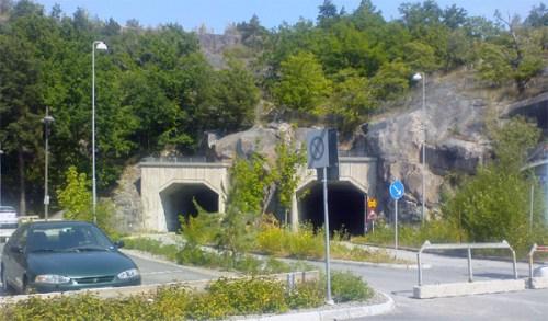 Finnbergstunneln mellan Finnboda och Kvarnholmen