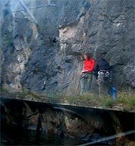 Danviksklippan, Stockholm: Klippa för klättring mot Danvikskanalen