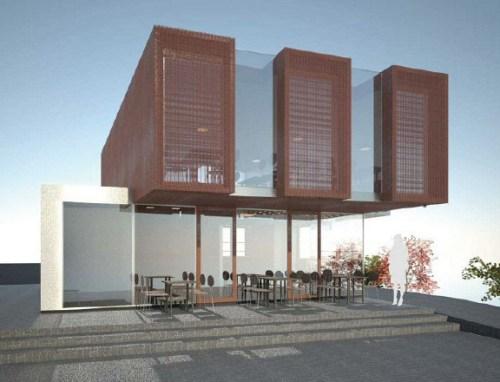 Planerat café på Lugnets terrass