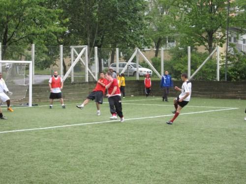 Henriksdalsberget, Nacka: Fotbollsturnering på Henriksdalsringens fotbollsplan, 2009