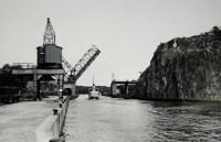 Hammarbyleden med Danviksklippan, Danviksbron och Norra Hammarbyhamnen, 1930-talet
