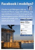 Checka in från Fåfängan café på Facebook places - Vastra Sicklaon