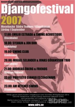 Affisch för Django Reinhard festival