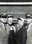 Fyra prydliga portvakter på Saltsjöqvarn
